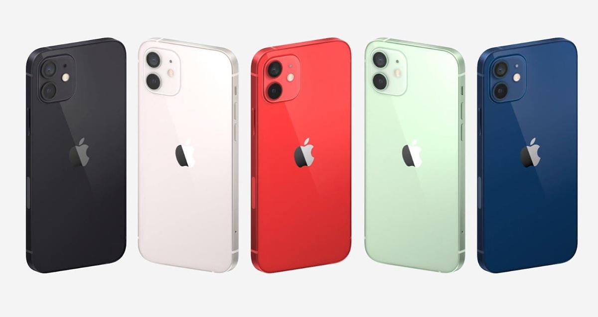 iPhone 12 gồm 5 màu, được trang bị màn hình OLED.