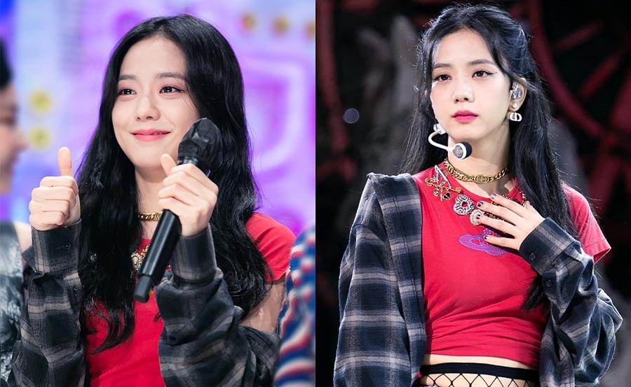 Những khoảnh khắc  lộ vẻ mệt mỏi của Ji Soo trên sân khấu Inkigayo ngày 11/10.