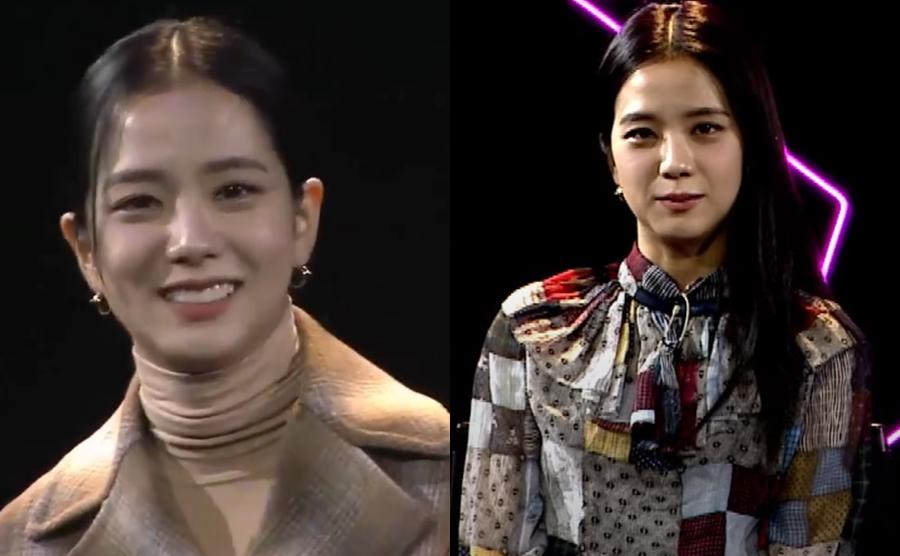 Ji Soo tại hai buổi họp báo ra mắt phim tài liệu Black Pink: Light up the sky hôm 13/10.