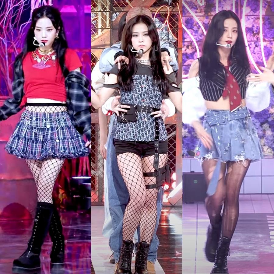 Điều đáng nói, bộ cánh hôm nay của Ji Soo bị cho là một màu, trùng lặp phong cách với những outfit sân khấu hồi tuần trước. Người hâm mộ bức xúc với stylist vì ít chịu thay đổi phong cách cho Ji Soo, không chỉ lặp lại style trang phục mà cách trang điểm, đầu tóc cũng không có gì mới mẻ.