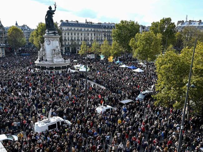 Hàng chục nghìn người tham gia biểu tình trên khắp nước Pháp. Ảnh: AFP.
