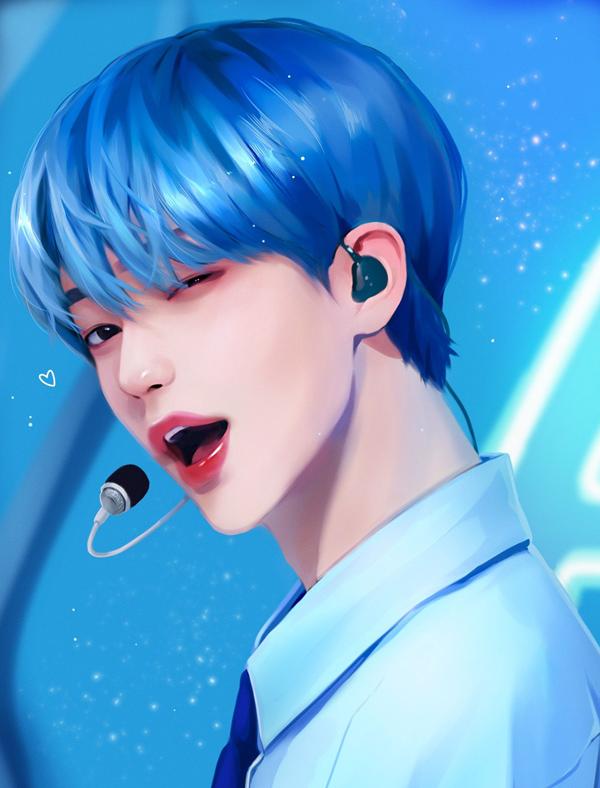 Bạn có nhận ra ai với ai qua fan art của sao Hàn? - 13