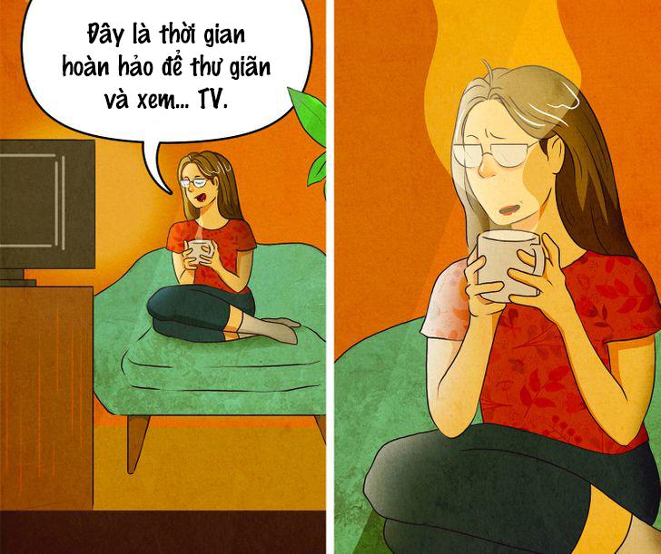 Nhâm nhi một tách cà phê nóng trong khi xem TV là một nhiệm vụ dường như bất khả thi.
