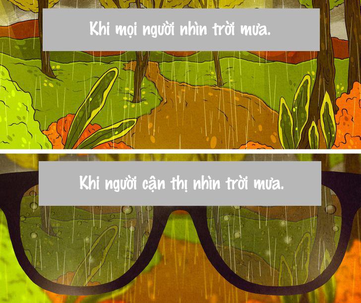 Khung cảnh trời mưa sẽ trở nên tuyệt hơn nếu bạn không đeo kính.