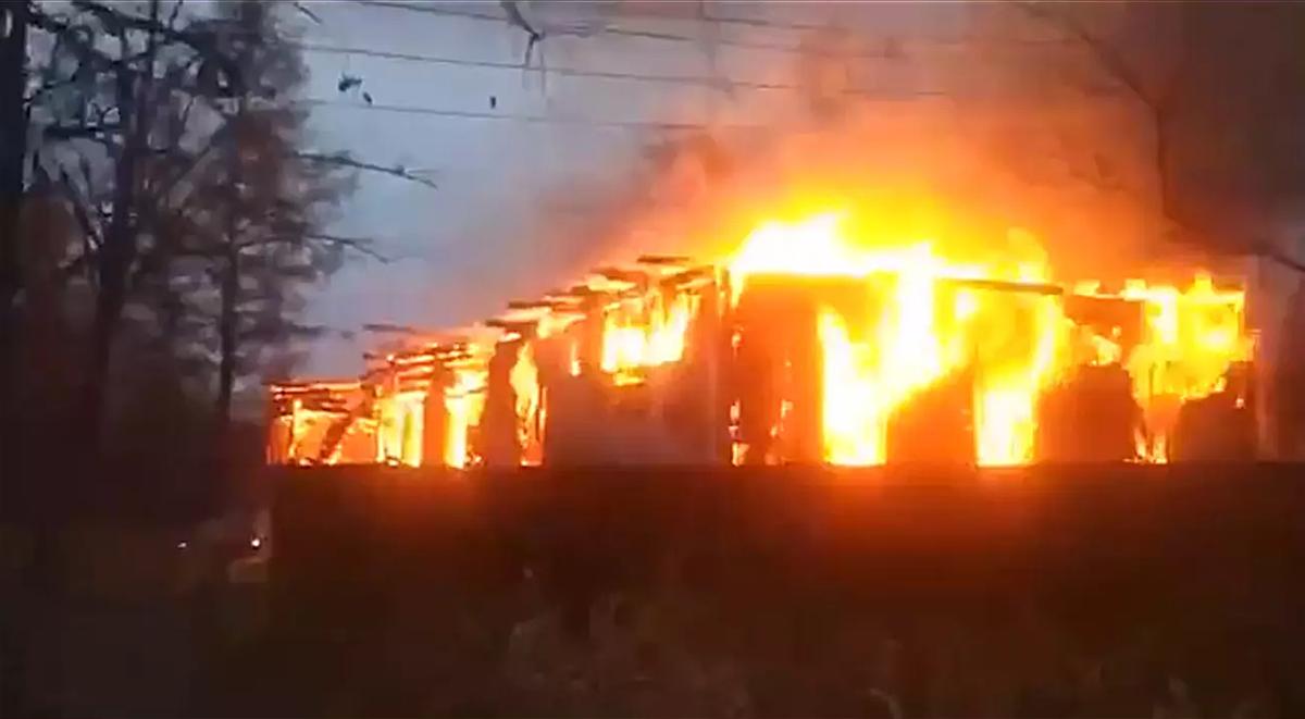 Toàn cảnh đám cháy tại viện dưỡng lão.
