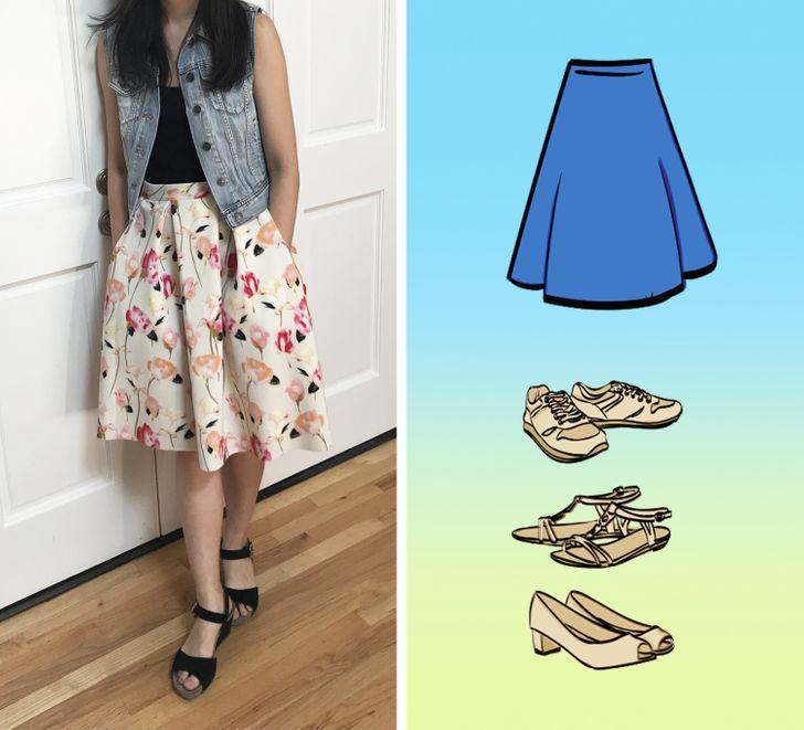 Mẹo lựa giày hợp với từng loại váy - 13