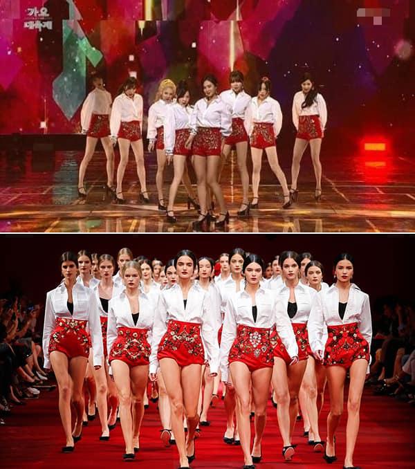 Trang phục diễn cho chương trình Gayo Daechukje của SNSD từng gây tranh cãi vì quá giống với của thương hiệu D&G. Ngay lập tức fan đã  chất vấn  stylist để làm rõ mọi chuyện thì nhận được câu trả lời rằng Trước những ngờ vực đó, mới đây, stylist của SNSD đã lên tiếng về sự việc. Stylist này khẳng định mình có lấy cảm hứng từ thiết kế của Dolce & Gabbana để tạo ra trang phục biểu diễn cho SNSD nhưng phủ nhận mình đã đạo nhái. Người này nói: Tôi chỉ lấy cảm hứng từ đó để tạo nên trang phục biểu diễn cho SNSD. Làm sao tôi có thể copy một thứ mà tôi chưa từng nhìn thấy ngoài đời được. Tôi rất thích thiết kế đó và thấy nó rất đẹp nên đã chọn cho SNSD. Nếu trang phục tôi làm giống với trang phục của Dolce & Gabbana đến mức khiến mọi người nghĩ là tôi copy thì tôi có thể coi đó như một lời khen dành cho đội ngũ may vá của chúng tôi bởi chúng tôi đã làm ra được trang phục cao cấp như một thương hiệu xa xỉ.... Câu trả lời của cô lập tức nhận được nhiều ý kiến trái chiều từ netizen. Nhiều người cho rằng do vị stylist này mà có thể ảnh hưởng tới danh tiếng của các thành viên trong làng thời trang.