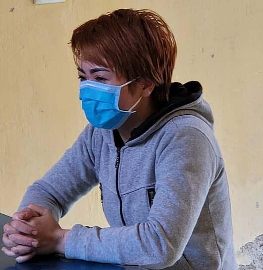 Nguyễn Thị Ánh Tuyết tại cơ quan điều tra. Ảnh: Công an cung cấp