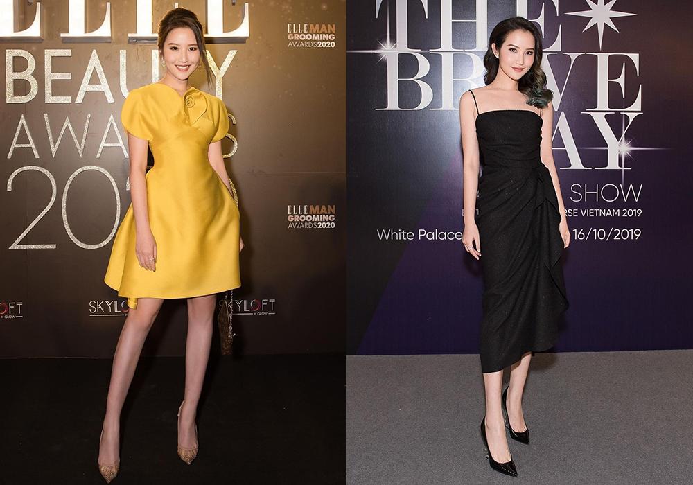 Những bộ đầm thiết kế đơn sắc tôn lên vẻ đẹp ngọt ngào của bà xã Phan Thành.