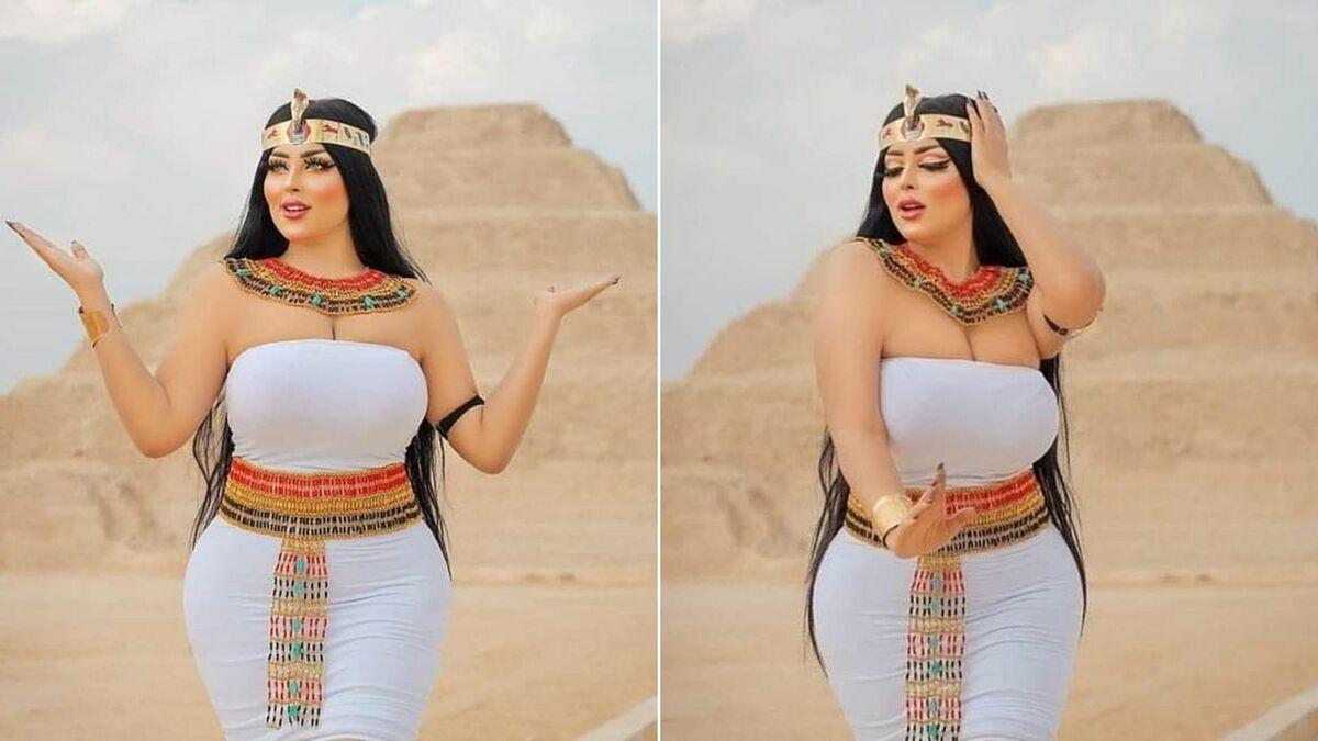 Người mẫu Salma al-Shimi đăng bức ảnh lên Instagram.