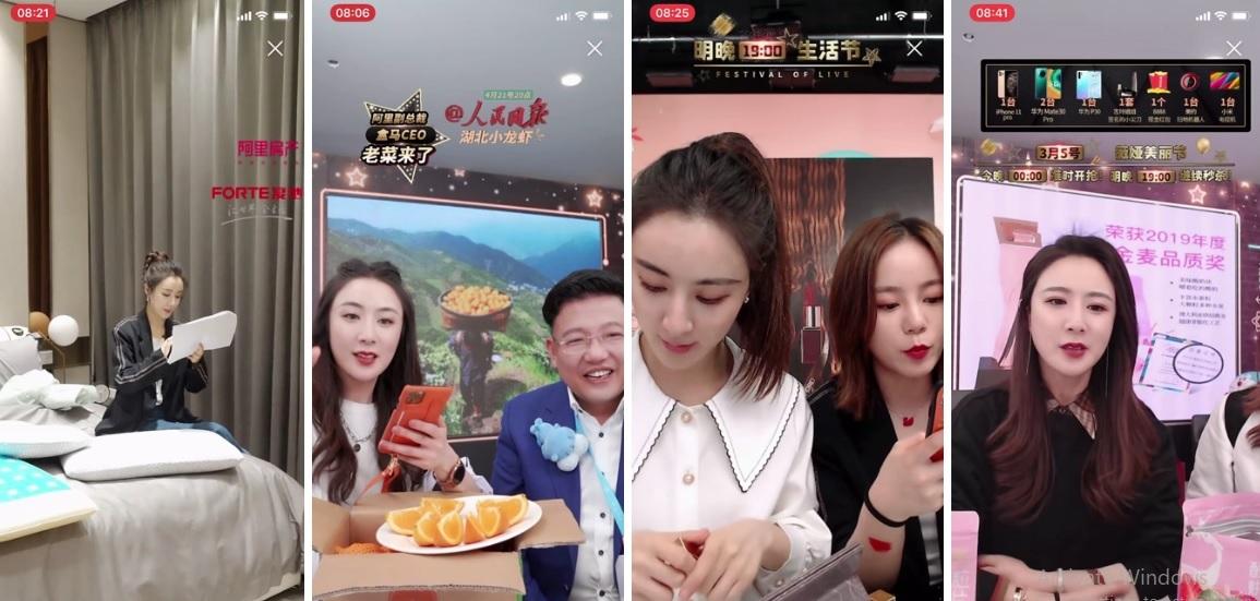 Nữ hoàng livestream Viya giới thiệu các sản phẩm trên Taobao. Ảnh: Bloomberg.