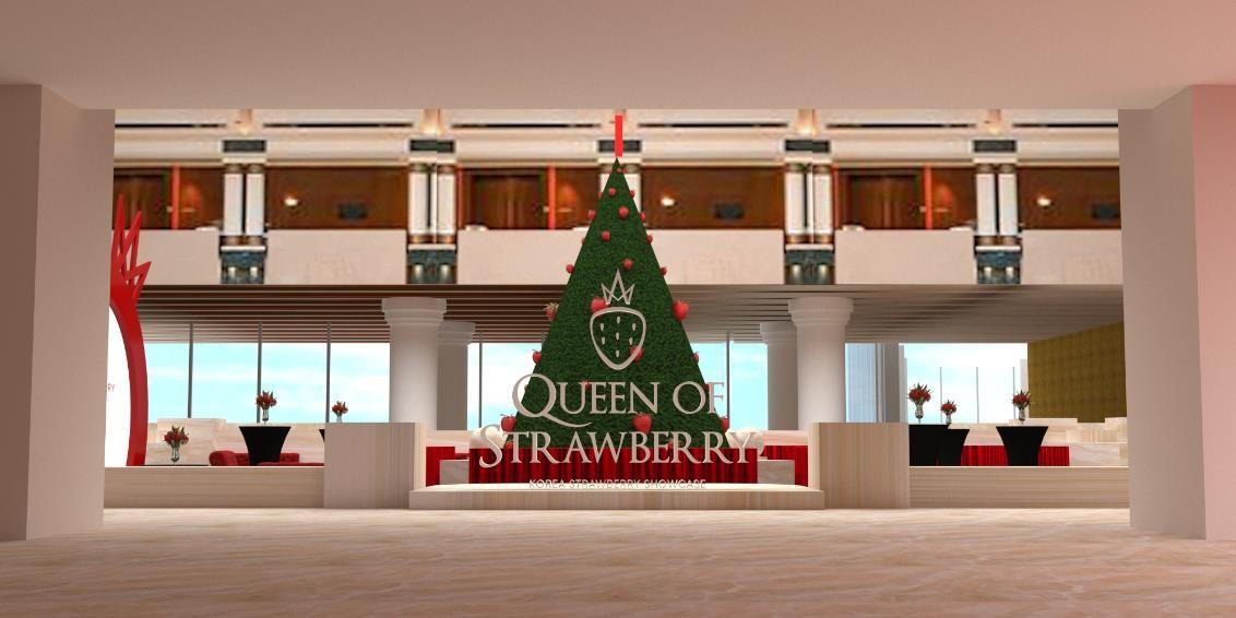 Mô hình sự kiện Queen of Strawberry - Korea Strawberry Showcase tại Khách sạn Lotte, TP HCM