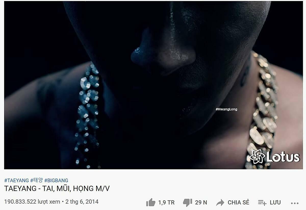 Bài hát Eyes, Nose, Lips của Taeyang khi bị fan Việt troll sẽ thành Tai, Mũi, Họng của Tê Răng.