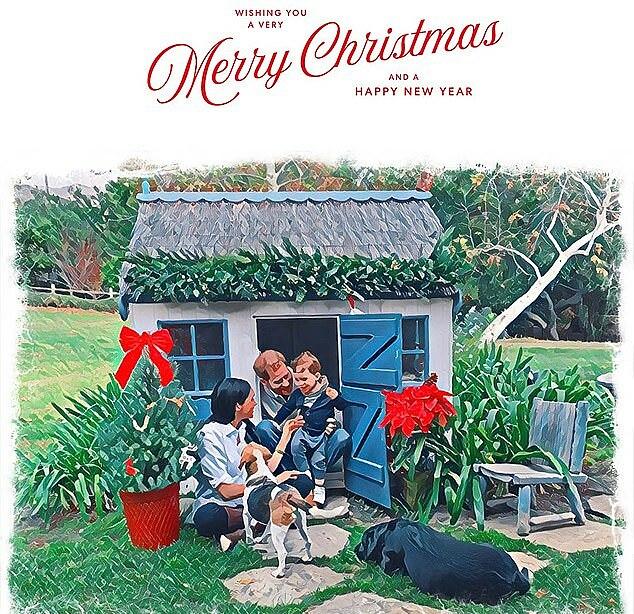 Bức thiệp Giáng sinh 2020 của nhà Harry - Meghan.