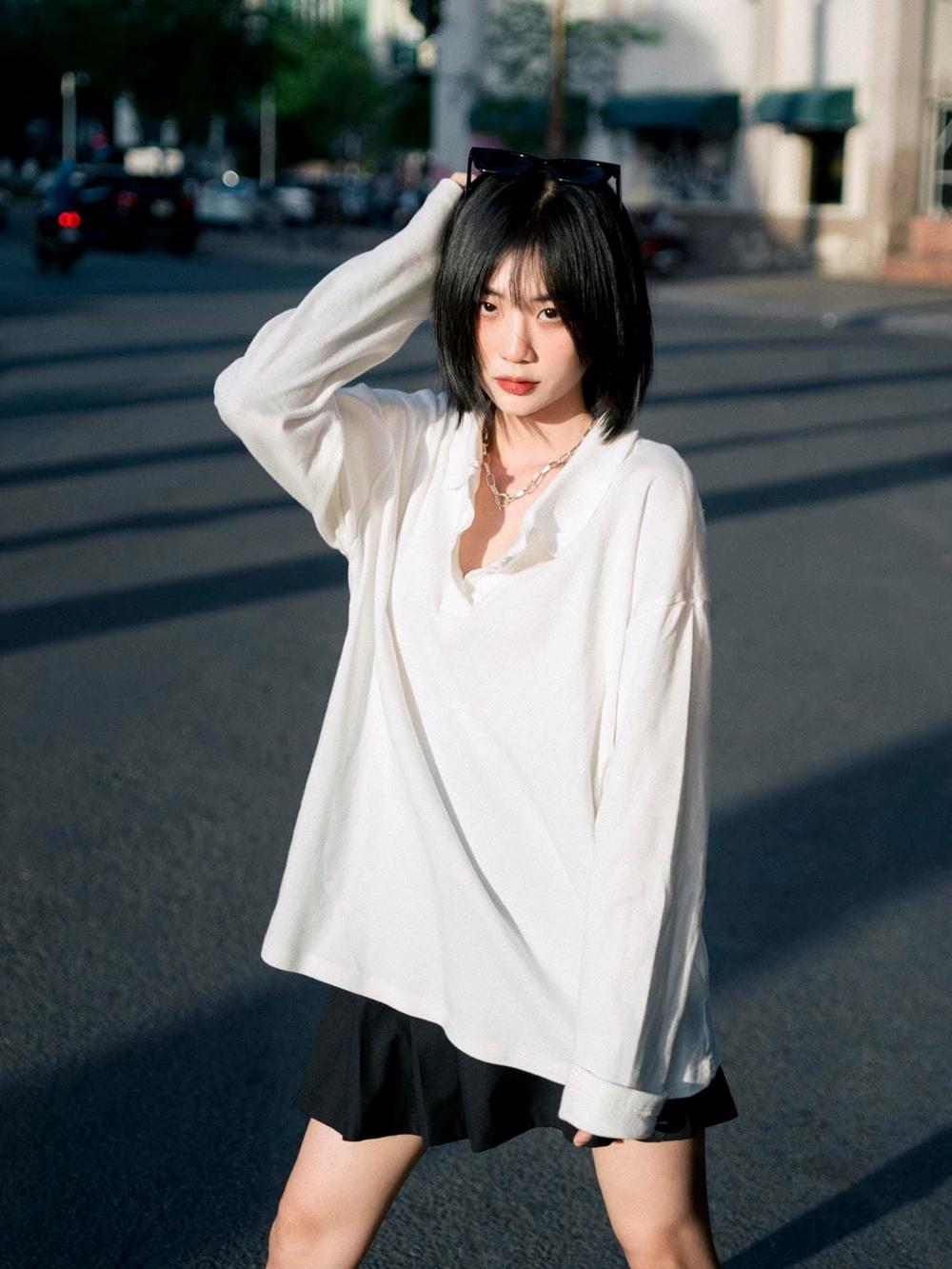 Trang Yue muốn phát triển mình bằng chính khả năng. Với cô, việc đầu tiên của người ca sĩ là phải có là kỹ năng hát live.