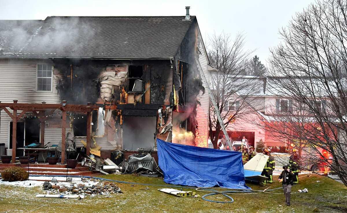 Hiện trường xảy ra vụ tai nạn. Ảnh: The Detroit News