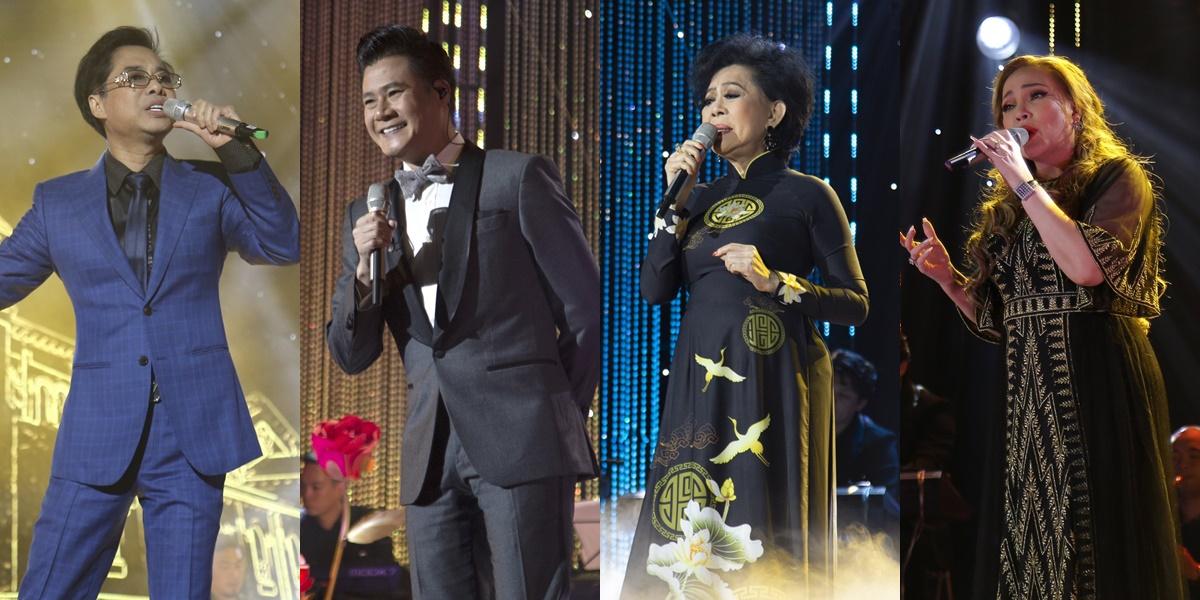 Những giọng ca thành danh từ âm nhạc Lam Phương biểu diễn tại show Trăm nhớ ngàn thương 4.