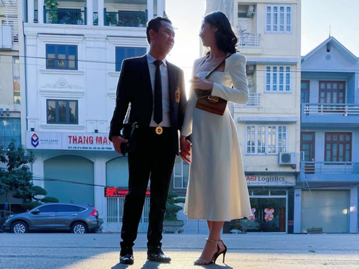Cẩm Đan cùng Đức Huy dự một đám cưới ở Hải Phòng.