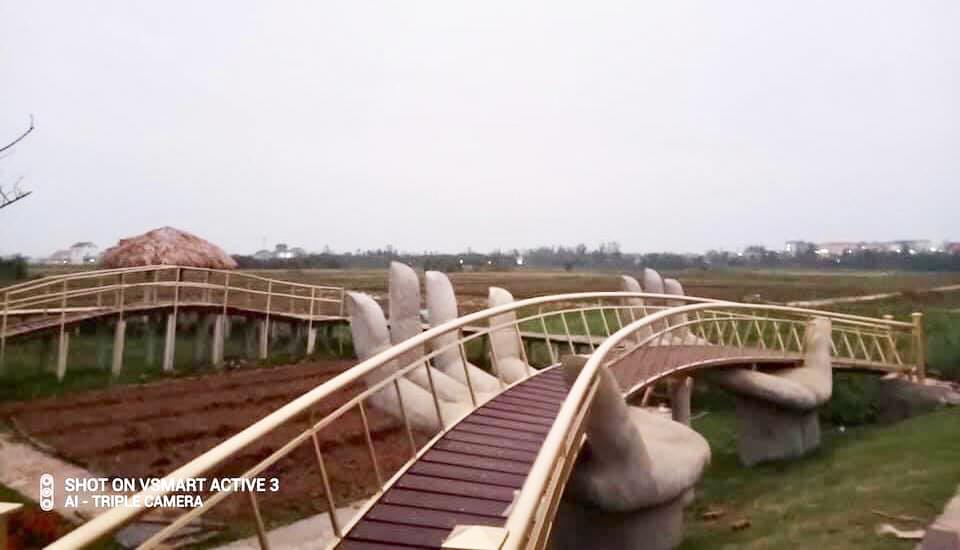 Hình ảnh cầu Vàng được phục dựng tại Quảng Bình. Ảnh: Quảng Bình hôm nay