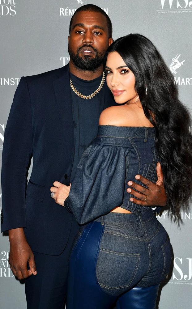 Kim Kardashian và Kanye West. Ảnh: Shutterstock.