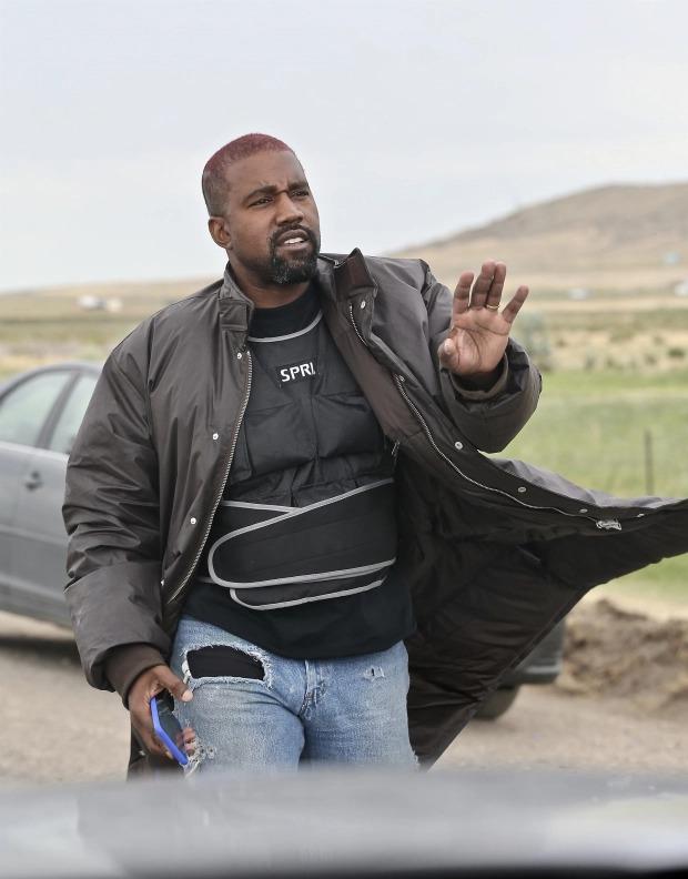Kanye West sống riêng tại Wyoming đã nhiều tháng. Ảnh: BackGrid.