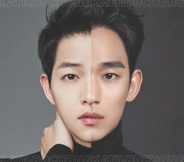 Nhận dạng 2 sao Hàn khi ghép nửa khuôn mặt - 1