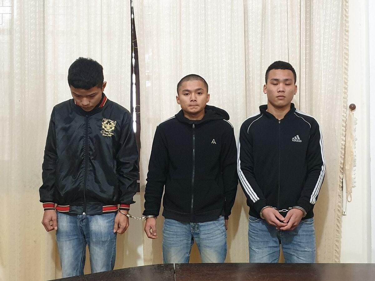 Ba kẻ thực hiện hành vi cướp giật trên địa bàn tại Nghệ An. Ảnh: Công an cung cấp