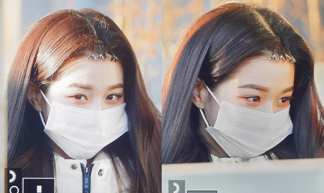 Các cô gái xuất hiện trong những chiếc kẹp giữ nếp tóc mái để tiết kiệm thời gian. Jang Won Youg có khuôn mặt nhỏ xíu, lọt thỏm trong chiếc khẩu trang.