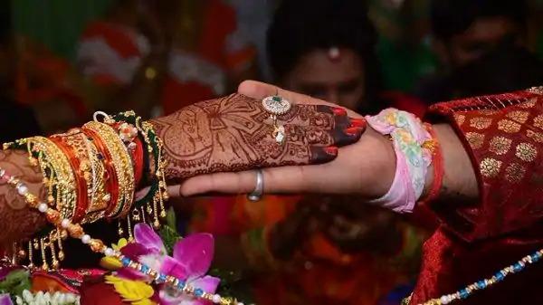 Đám cưới theo nghi thức truyền thống ở Ấn Độ.