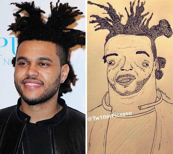 Hôm 31/12/2020, một người hâm mộ đăng bức vẽ với chú thích: Tôi vẽ The Weeknd nhận hơn 200 nghìn lượt like. Tác phẩm hài hước gây tiếng vang đến mức nam ca sĩ The Weeknd dùng luôn làm ảnh đại diện Instagram.
