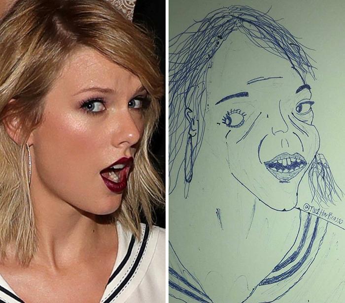 Thương Taylor Swift vô cùng nhưng fan không thể ngừng thả haha cho tác phẩm hiện thực này.