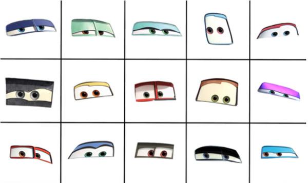 Phân biệt nhân vật phim Cars chỉ qua đôi mắt