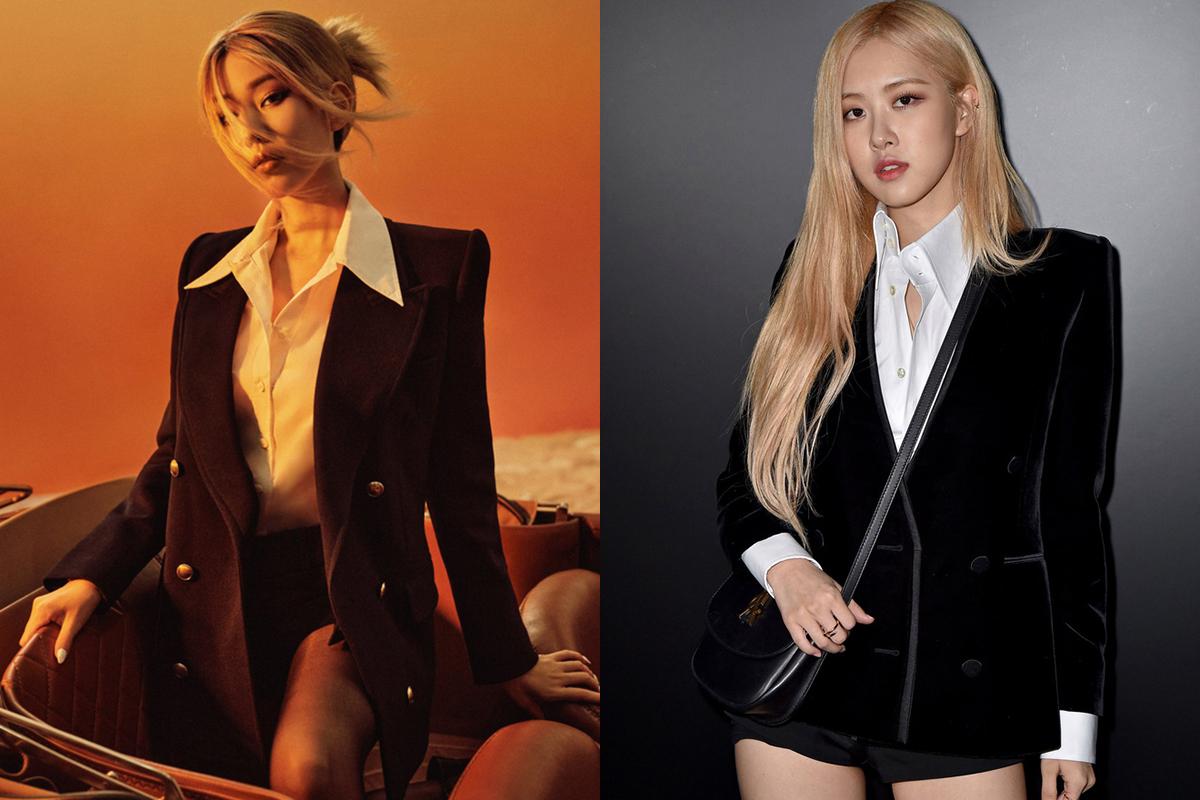 Diện cùng kiểu sơ mi trắng cùng blazer vai vuông mạnh mẽ, giọng ca Vbiz trông cũng như chị em với mỹ nhân Black Pink.