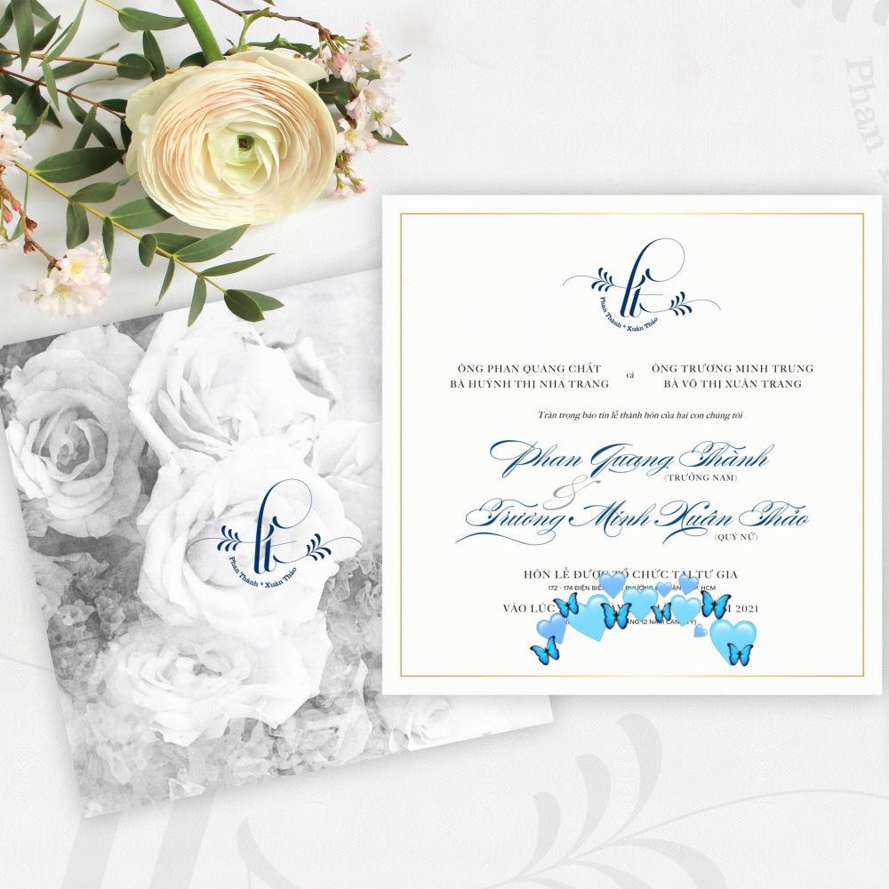 Thiệp cưới do Phan Thành chia sẻ.