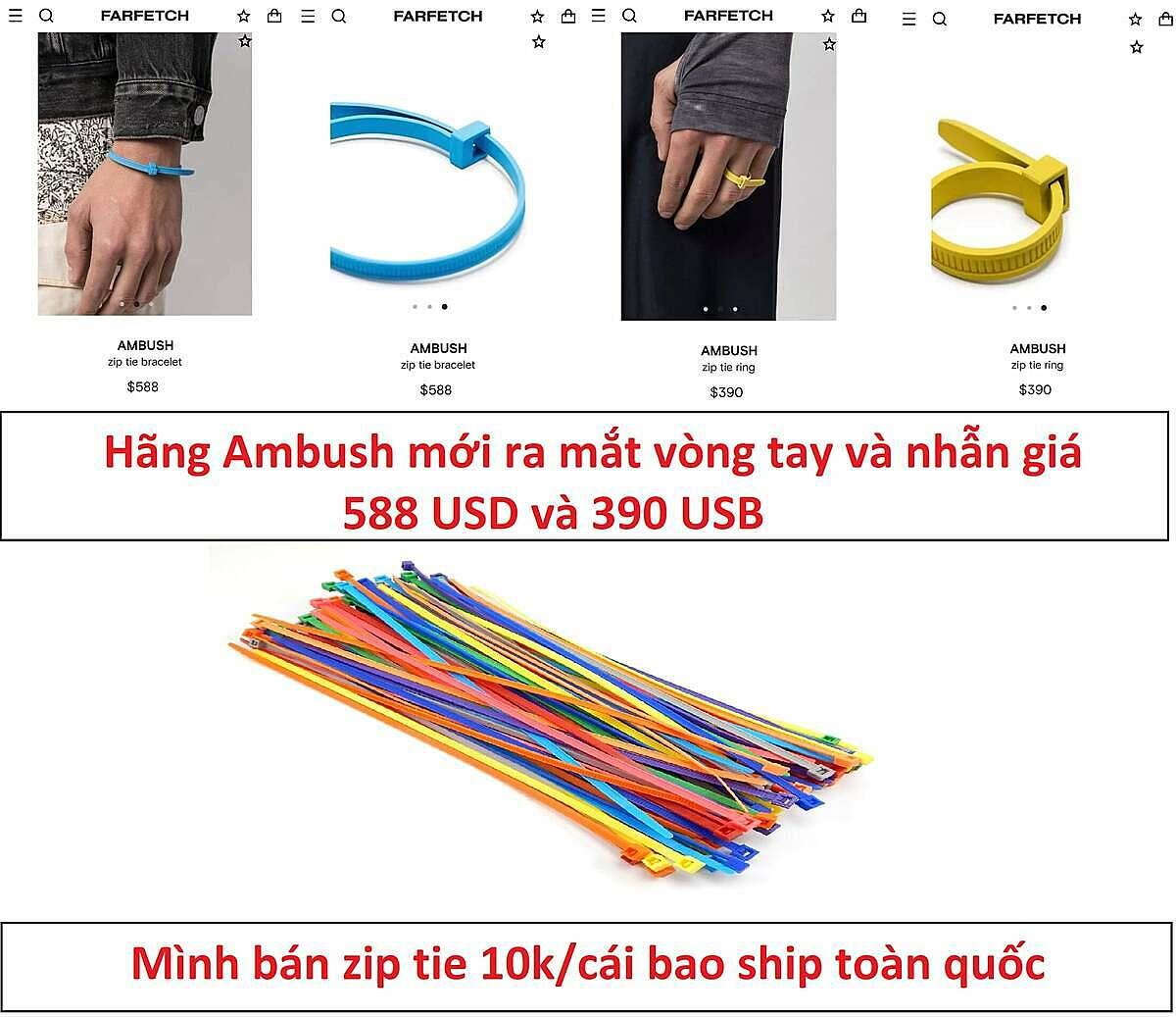 Cư dân mạng lập tức bắt trend bán zip tie giá rẻ lại còn free ship.