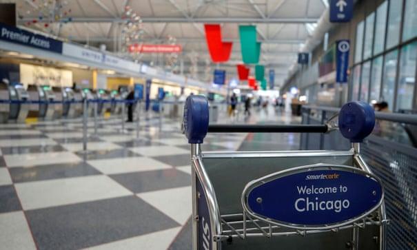 Một khu vực tại sân bay quốc tế OHare, Chicago.