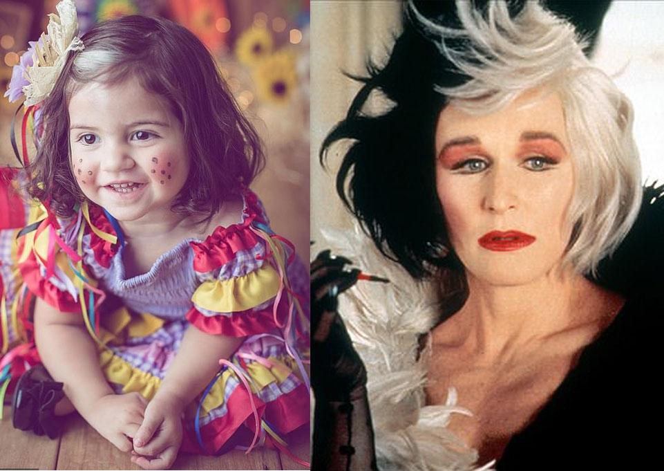 Bé gái sinh ra với mái tóc trắng một nửa hệt phiên bản hoạt hình Disney - 4