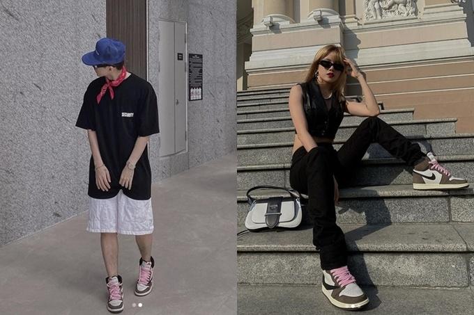 Trong 8 năm hẹn hò bí mật, Tùng - Trâm vô số lần diện đồ đôi, từ quần áo, giày dép đến phụ kiện như mũ, mắt kính... Tuy nhiên cả hai chưa một lần công khai mối quan hệ.