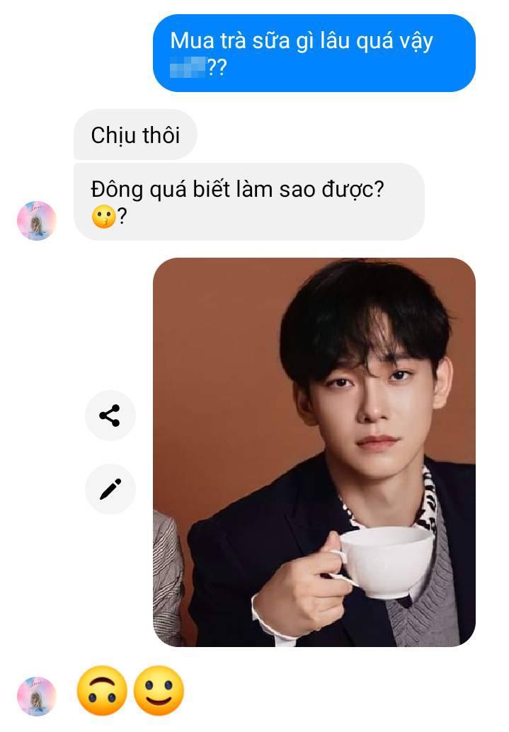 Chen (EXO) trong trường hợp này không cần nói lái.