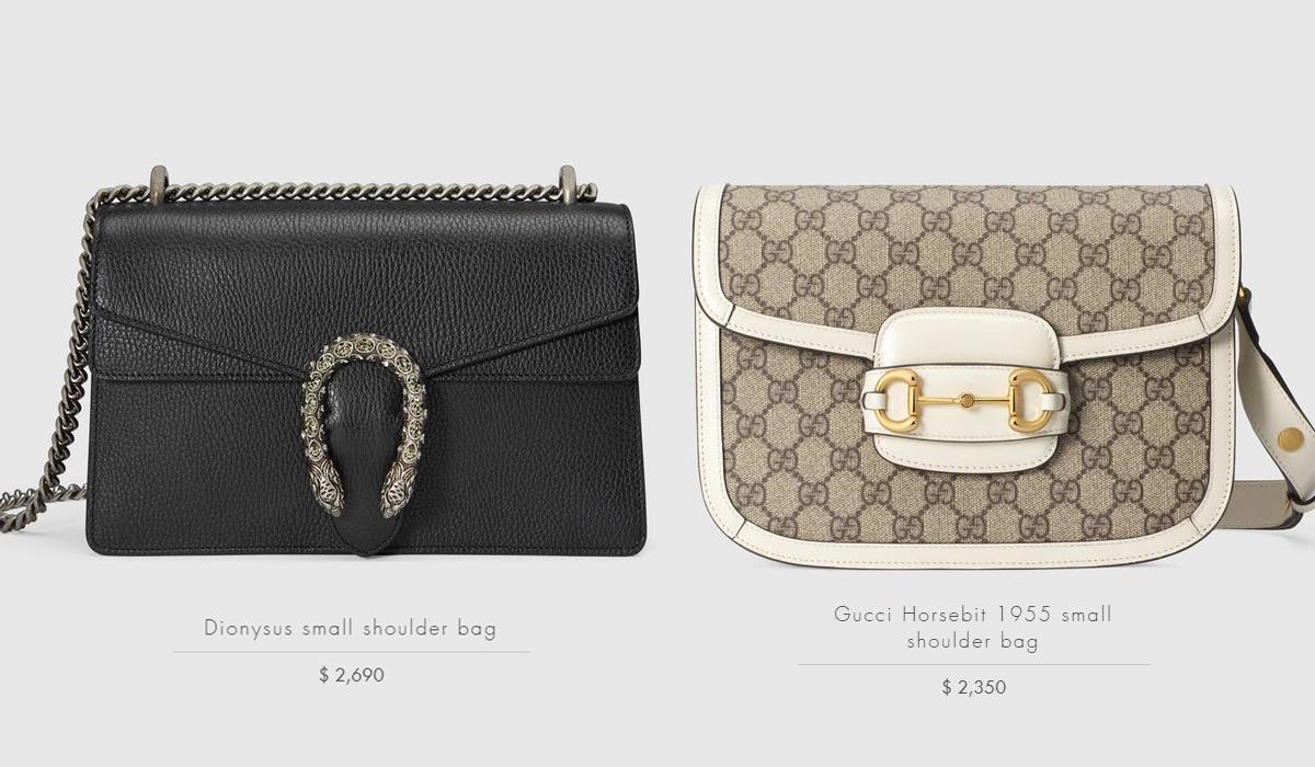 Hai chiếc túi xách mới được Đỗ Hà bổ sung vào bộ sưu tập có mức giá khá đắt đỏ, trong đó chiếc Dionysus màu đen giá đến hơn 62 triệu đồng, còn chiếc Horsebit 1955 tông be trắng giá khoảng 55 triệu đồng.