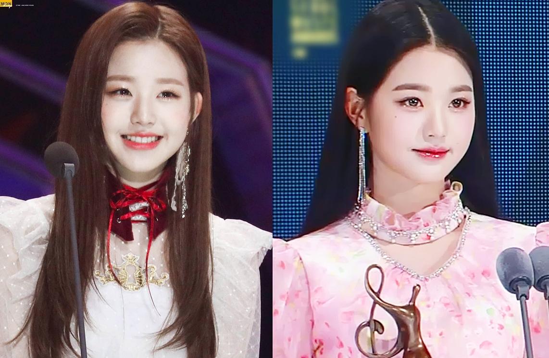 Bức ảnh so sánh Jang Won Young tại SMA 2019 và 2021.