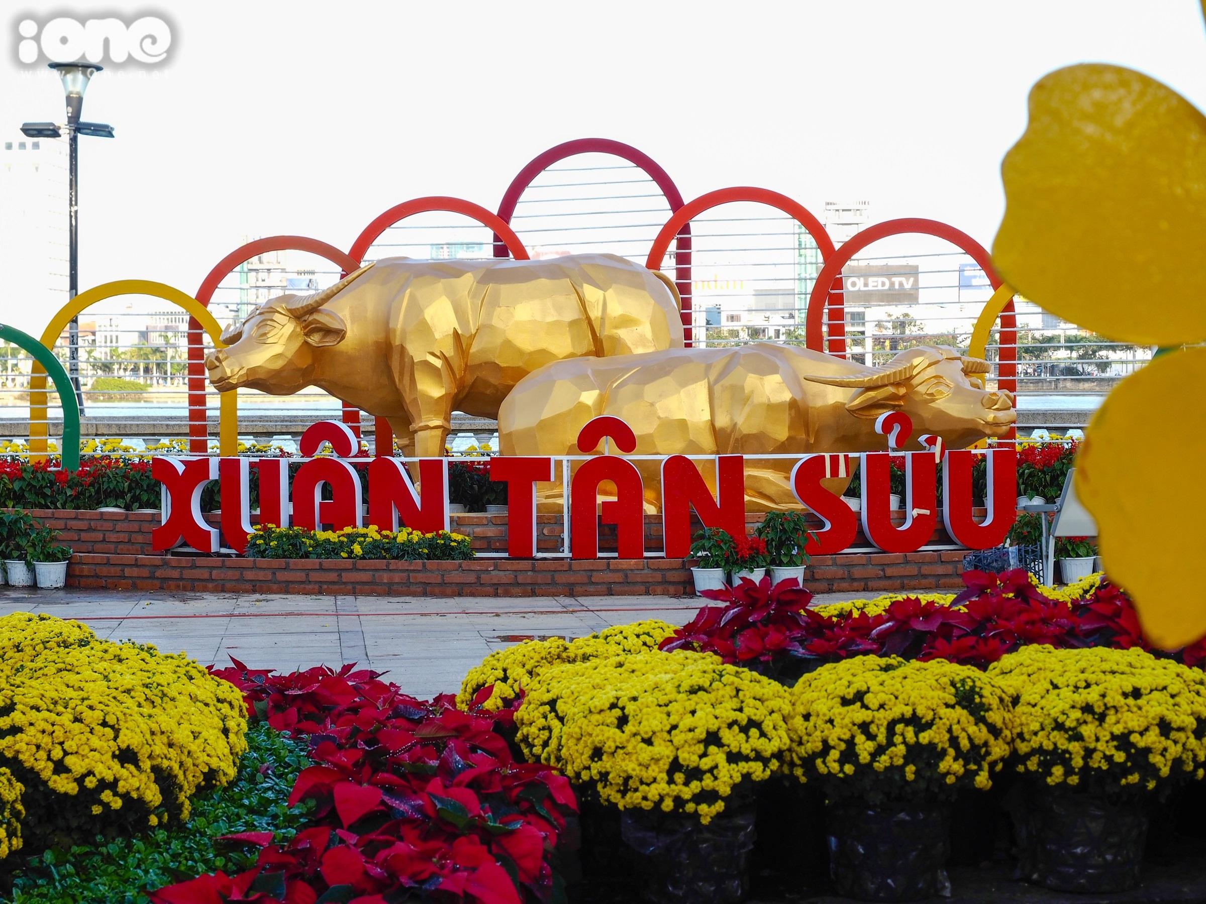 Đường hoa 12 tỷ đồng với nhiều tiểu cảnh hoàng tráng ở Đà Nẵng