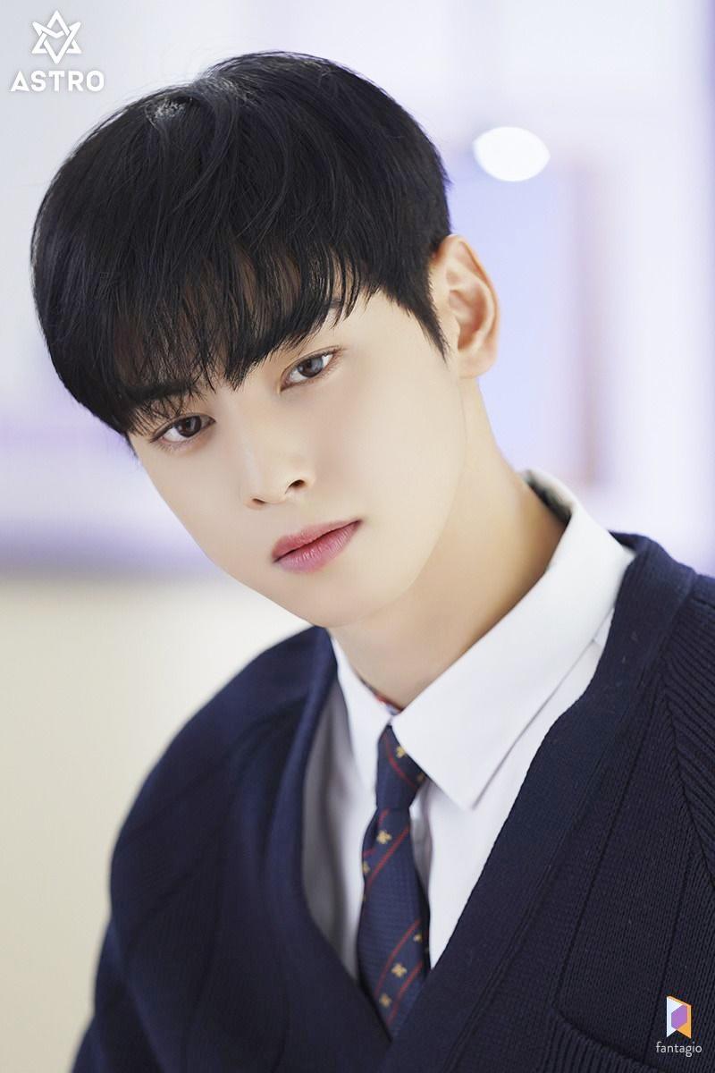 Chiếm vị trí đầu bảng là Cha Eun Woo - mỹ nam nổi tiếng với gương mặt tỉ lệ vàng, hoàn hảo đến mức bác sĩ tâm lý cũng phải khen ngợi. Thành viên Astro được ví như nhân vật truyện tranh bước ra đời thực, nét đẹp dịu dàng, ấm áp và sở hữu chiều cao khủng, bờ vai rộng ấm áp. Anh chàng được đánh giá có ngoại hình rất hợp với vai trò diễn viên và trong năm 2020, Eun Woo đảm nhận vai nam chính trong phim True Beauty và được khen giống hệt nhân vật trong truyện.