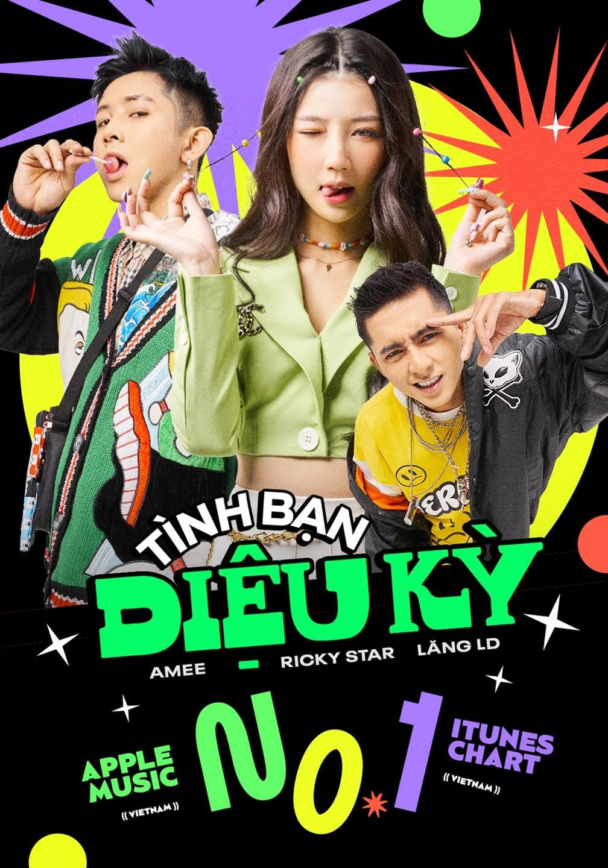 Bộ ba Amee, Lăng LD, Ricky Star tạo trend đầu năm với Tình bạn diệu kỳ