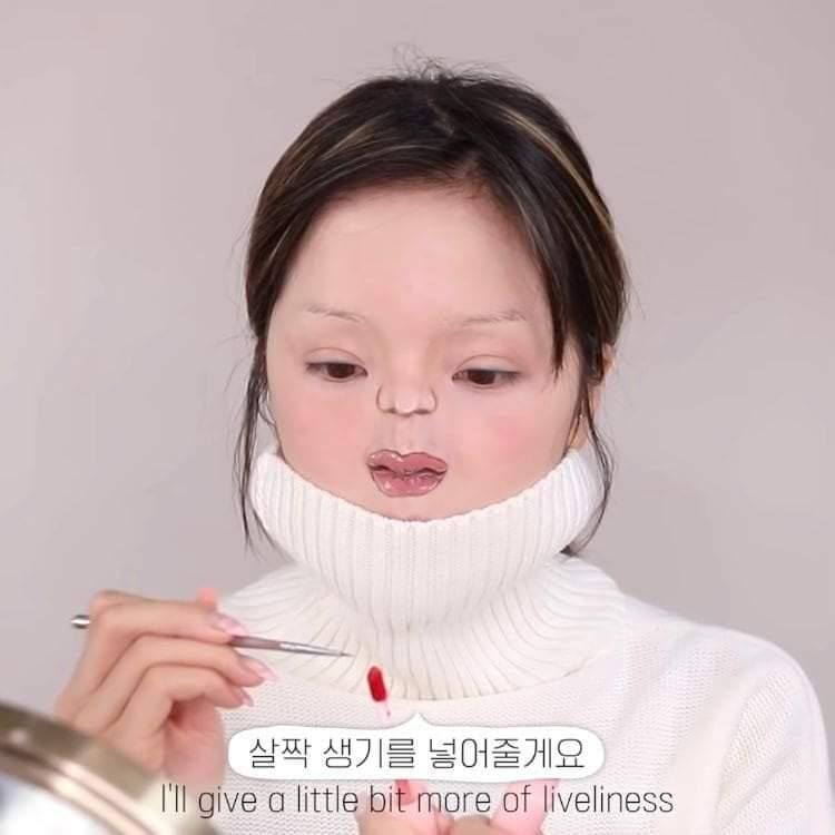 Màn hóa trang thành em bé của nữ Youtuber Hàn Quốc gây sang chấn tâm lý - 14