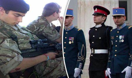 Những hình ảnh của Benjamin khi phục vụ trong quân đội.