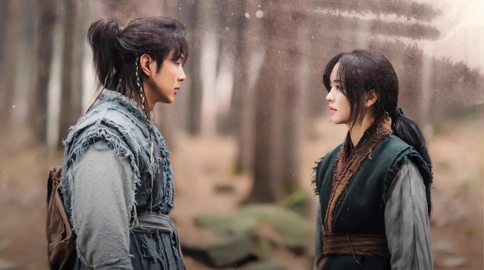 Ji Soo và Kim So Hyun trong phim River when the moon rises.