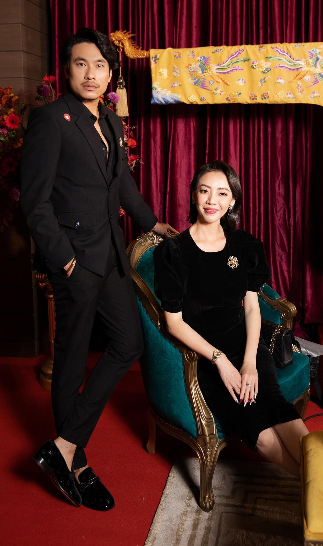 Thu Trang và Kiều Minh Tuấn.