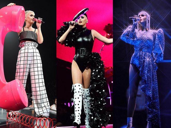 Riêng Katy Perry đã diện 9 thiết kế của NTK Công Trí từ 2017 đến 2019.