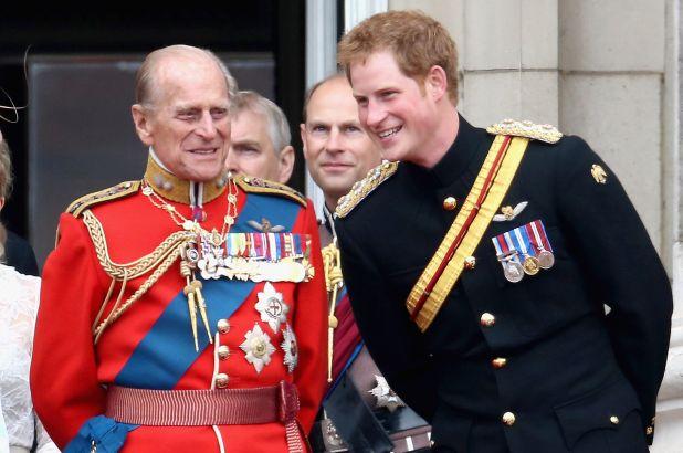 Harry và Hoàng thân Philip.